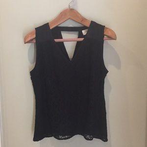 Black sleeveless top - Laundry by Shelli Segal